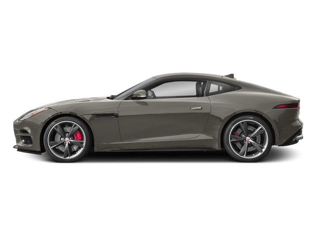 Silicon Silver 2018 Jaguar F-TYPE Pictures F-TYPE Coupe Auto R-Dynamic AWD photos side view