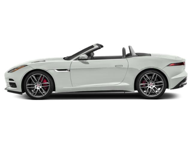 Fuji White 2018 Jaguar F-TYPE Pictures F-TYPE Convertible Auto R-Dynamic photos side view