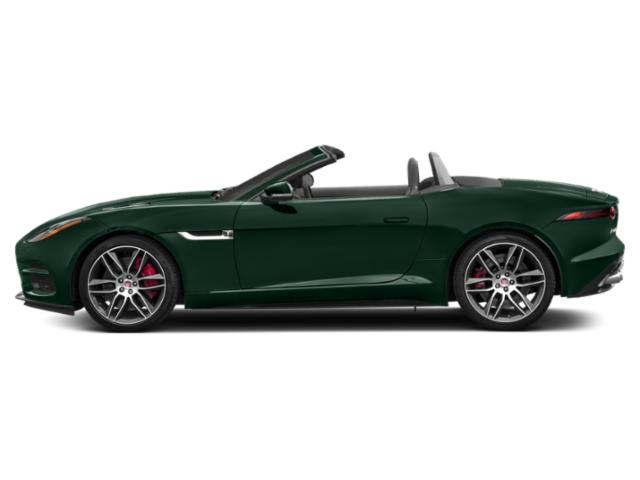 British Racing Green Metallic 2018 Jaguar F-TYPE Pictures F-TYPE Convertible Auto R-Dynamic photos side view