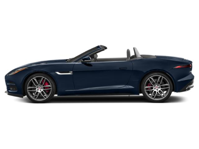 Loire Blue Metallic 2018 Jaguar F-TYPE Pictures F-TYPE Convertible Auto 340HP photos side view