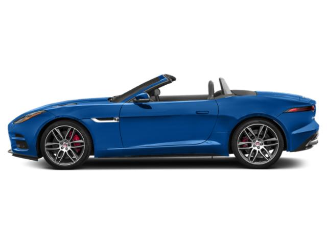 Ultra Blue Metallic 2018 Jaguar F-TYPE Pictures F-TYPE Convertible Auto R-Dynamic photos side view