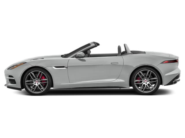 Indus Silver Metallic 2018 Jaguar F-TYPE Pictures F-TYPE Convertible Auto 340HP photos side view
