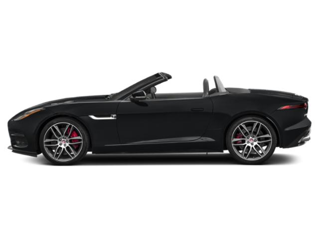 Santorini Black Metallic 2018 Jaguar F-TYPE Pictures F-TYPE Convertible Auto 340HP photos side view