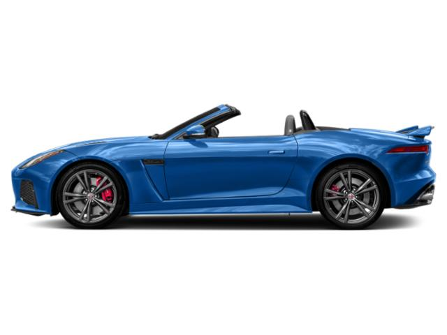 Ultra Blue Metallic 2018 Jaguar F-TYPE Pictures F-TYPE Convertible 2D SVR AWD photos side view