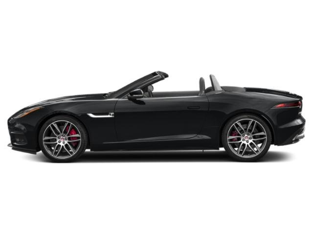 Santorini Black Metallic 2018 Jaguar F-TYPE Pictures F-TYPE Convertible Auto 400 Sport photos side view