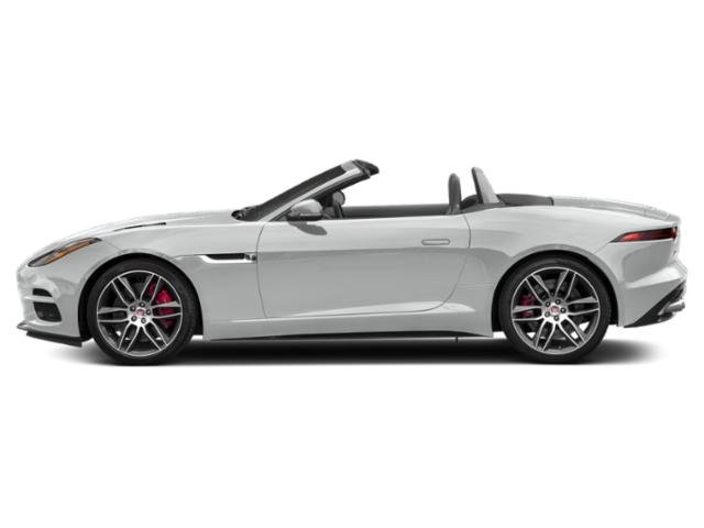 Indus Silver Metallic 2018 Jaguar F-TYPE Pictures F-TYPE Convertible Auto R AWD photos side view