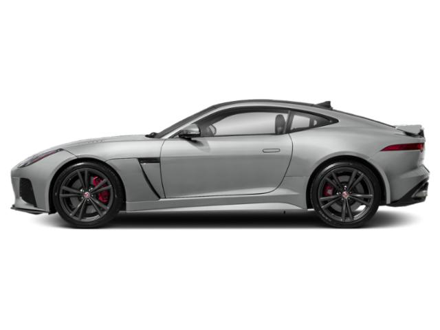 Indus Silver Metallic 2018 Jaguar F-TYPE Pictures F-TYPE Coupe Auto SVR AWD photos side view