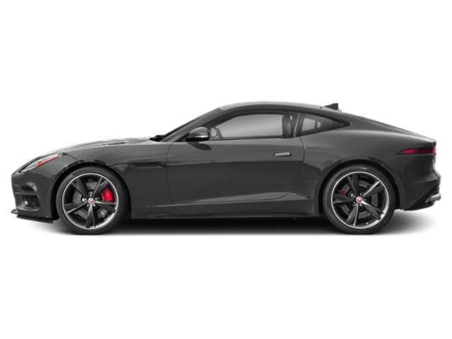 Corris Grey Metallic 2018 Jaguar F-TYPE Pictures F-TYPE Coupe Auto R-Dynamic photos side view