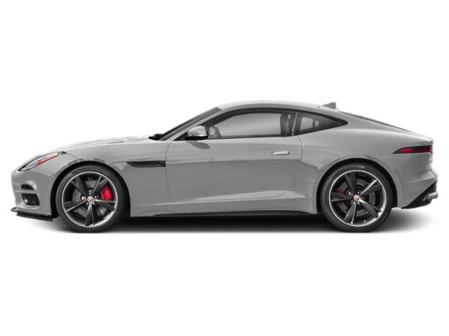 Indus Silver Metallic 2018 Jaguar F-TYPE Pictures F-TYPE Coupe Auto R AWD photos side view