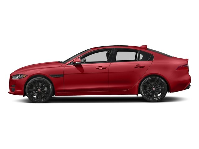 Caldera Red 2018 Jaguar XE Pictures XE Sedan 4D 25t Prestige photos side view