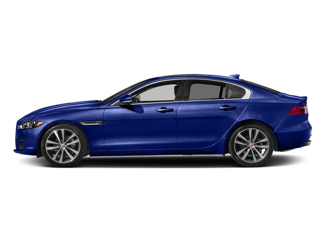 Caesium Blue 2018 Jaguar XE Pictures XE 20d Prestige AWD photos side view