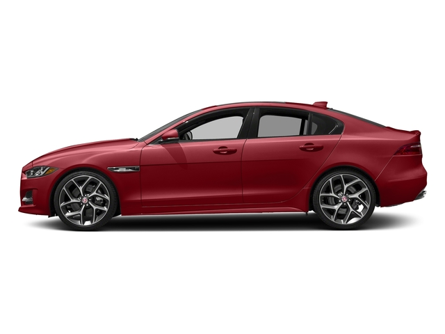 Firenze Red 2018 Jaguar XE Pictures XE 35t R-Sport AWD *Ltd Avail* photos side view
