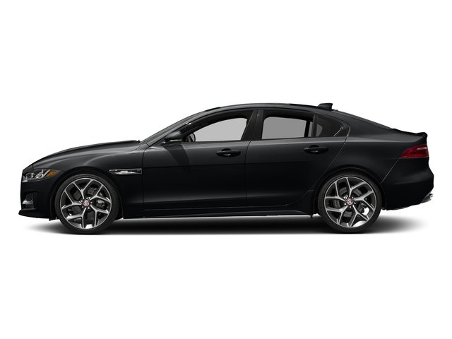 Santorini Black 2018 Jaguar XE Pictures XE 35t R-Sport AWD *Ltd Avail* photos side view