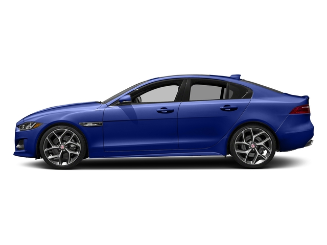 Caesium Blue 2018 Jaguar XE Pictures XE 35t R-Sport AWD *Ltd Avail* photos side view
