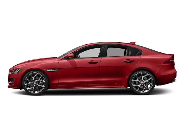 Caldera Red 2018 Jaguar XE Pictures XE 25t R-Sport RWD photos side view