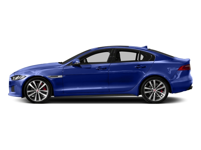 Caesium Blue 2018 Jaguar XE Pictures XE S AWD photos side view