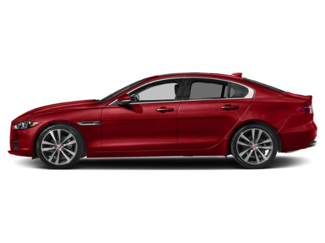 Caldera Red 2018 Jaguar XE Pictures XE 20d Prestige AWD photos side view