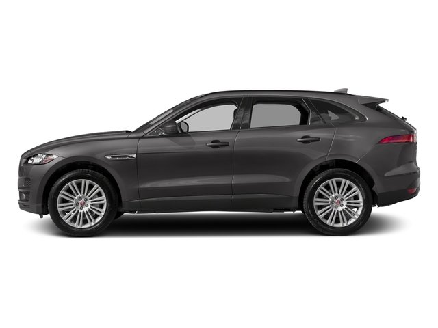 Corris Grey Metallic 2018 Jaguar F-PACE Pictures F-PACE 20d Prestige AWD photos side view