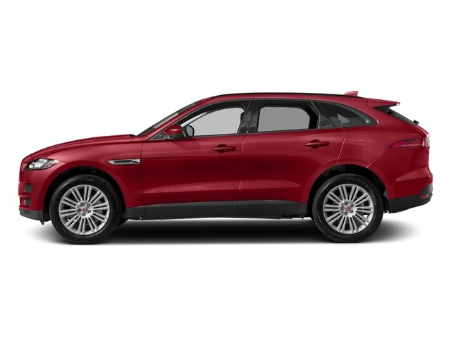 Firenze Red Metallic 2018 Jaguar F-PACE Pictures F-PACE 20d Prestige AWD photos side view