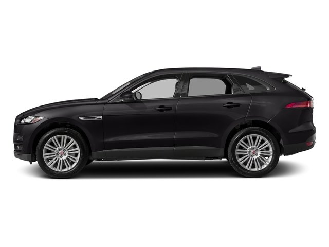 Santorini Black Metallic 2018 Jaguar F-PACE Pictures F-PACE 20d Prestige AWD photos side view
