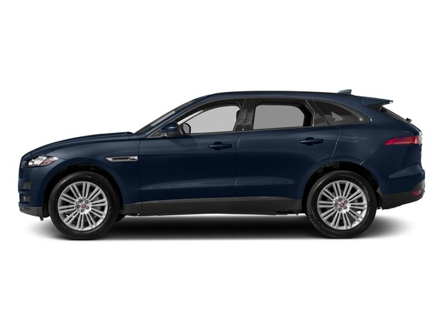 Loire Blue Metallic 2018 Jaguar F-PACE Pictures F-PACE 20d Prestige AWD photos side view