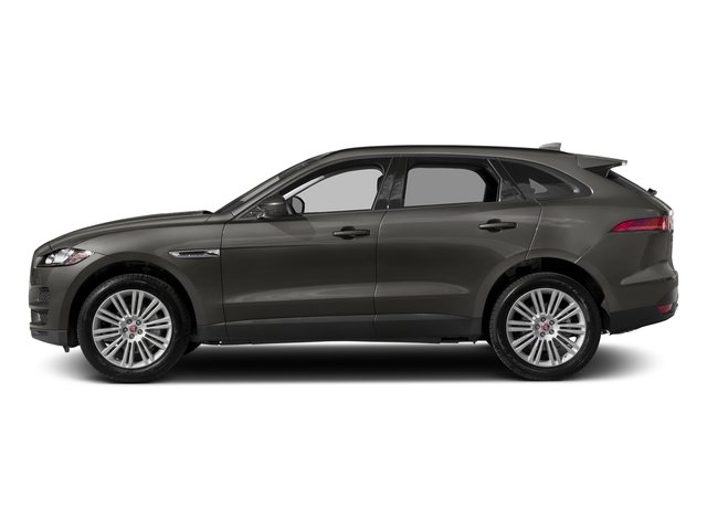 Silicon Silver 2018 Jaguar F-PACE Pictures F-PACE 20d Prestige AWD photos side view