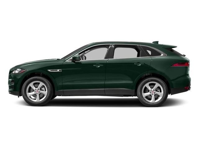 British Racing Green Metallic 2018 Jaguar F-PACE Pictures F-PACE 35t Premium AWD photos side view