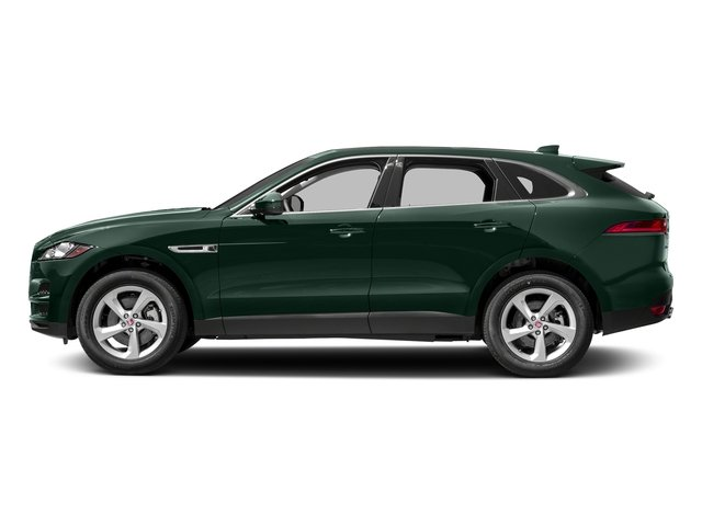 British Racing Green Metallic 2018 Jaguar F-PACE Pictures F-PACE 30t Premium AWD photos side view