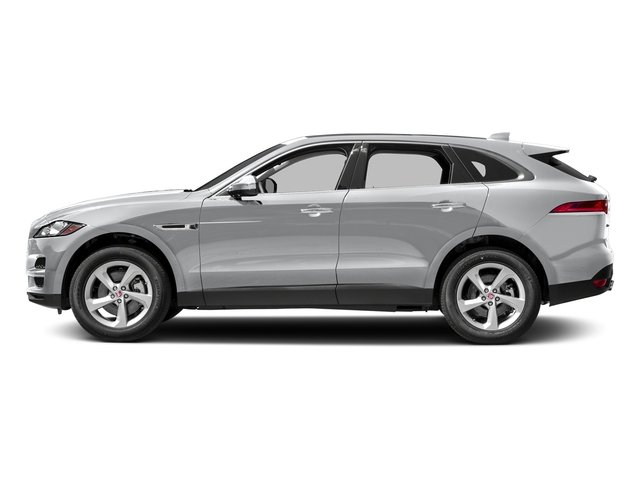 Yulong White Metallic 2018 Jaguar F-PACE Pictures F-PACE 35t Portfolio AWD photos side view