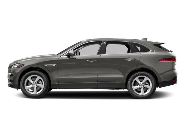 Silicon Silver 2018 Jaguar F-PACE Pictures F-PACE 35t Prestige AWD photos side view