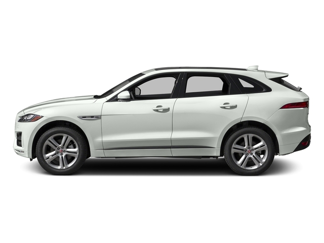 Fuji White 2018 Jaguar F-PACE Pictures F-PACE 35t R-Sport AWD photos side view