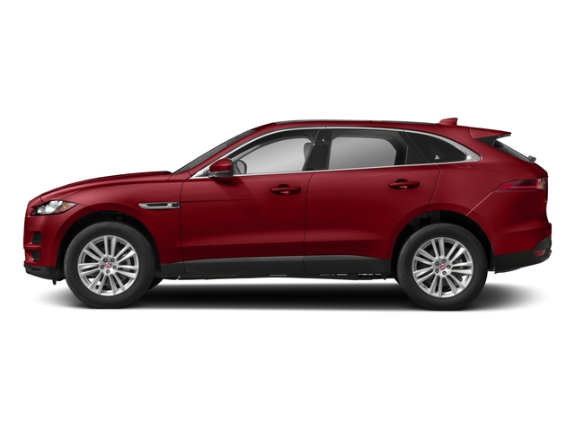 Firenze Red Metallic 2018 Jaguar F-PACE Pictures F-PACE 25t Premium AWD photos side view