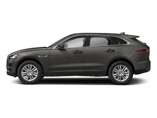 Silicon Silver 2018 Jaguar F-PACE Pictures F-PACE 25t Prestige AWD photos side view