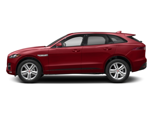 Firenze Red Metallic 2018 Jaguar F-PACE Pictures F-PACE 25t R-Sport AWD photos side view