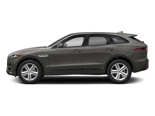Silicon Silver 2018 Jaguar F-PACE Pictures F-PACE 25t R-Sport AWD photos side view