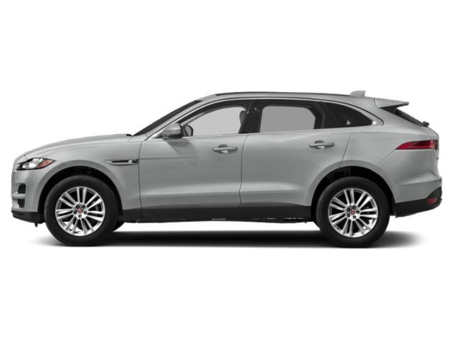 Indus Silver Metallic 2018 Jaguar F-PACE Pictures F-PACE 25t Prestige AWD photos side view