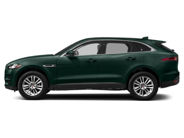 British Racing Green Metallic 2018 Jaguar F-PACE Pictures F-PACE 25t Prestige AWD photos side view
