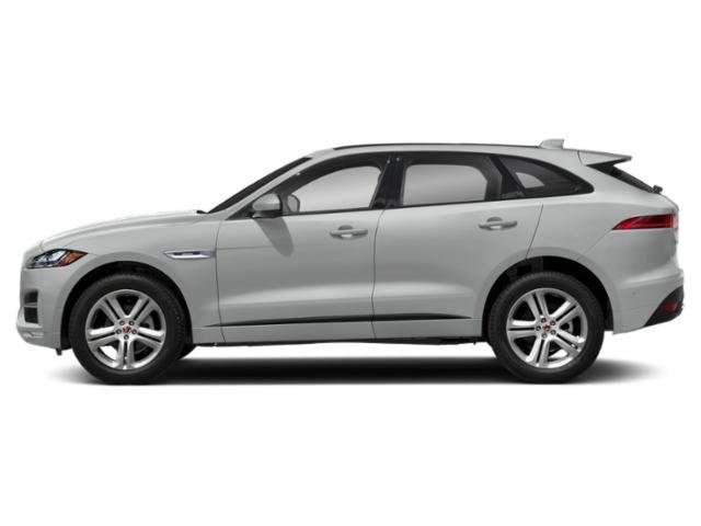 Indus Silver Metallic 2018 Jaguar F-PACE Pictures F-PACE 25t R-Sport AWD photos side view