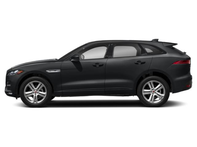 Santorini Black Metallic 2018 Jaguar F-PACE Pictures F-PACE 25t R-Sport AWD photos side view