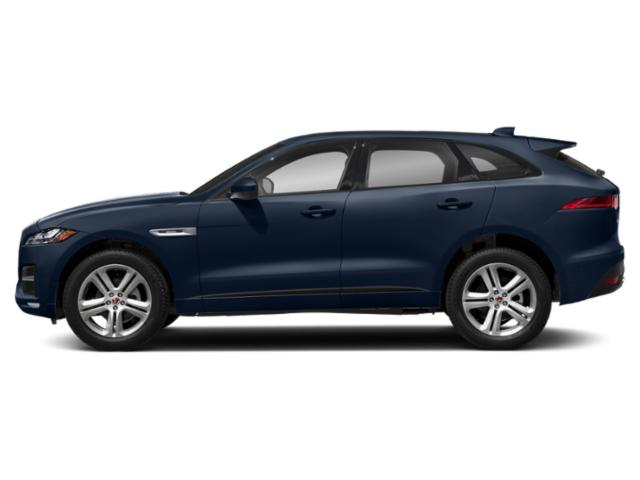 Loire Blue Metallic 2018 Jaguar F-PACE Pictures F-PACE 25t R-Sport AWD photos side view