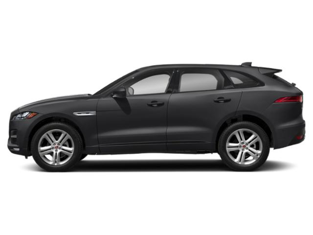 Carpathian Grey 2018 Jaguar F-PACE Pictures F-PACE 25t R-Sport AWD photos side view