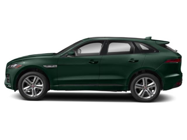 British Racing Green Metallic 2018 Jaguar F-PACE Pictures F-PACE 35t R-Sport AWD photos side view
