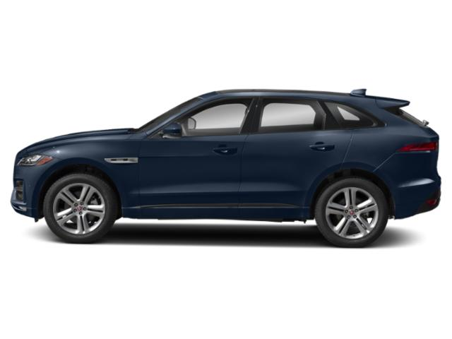 Loire Blue Metallic 2018 Jaguar F-PACE Pictures F-PACE 35t R-Sport AWD photos side view