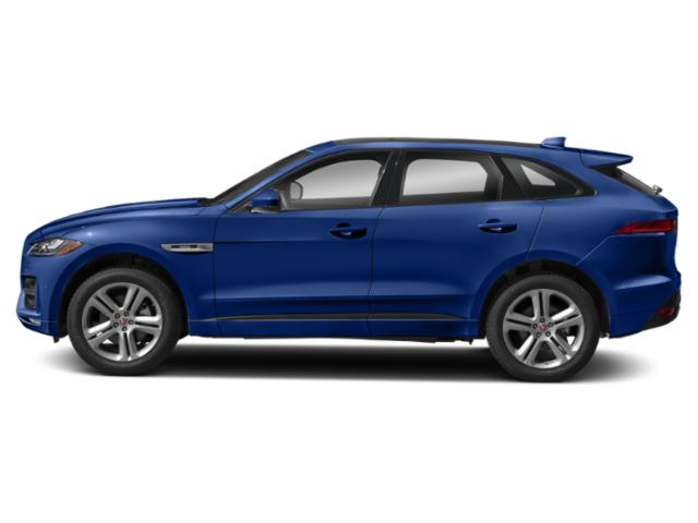 Caesium Blue Metallic 2018 Jaguar F-PACE Pictures F-PACE 35t R-Sport AWD photos side view