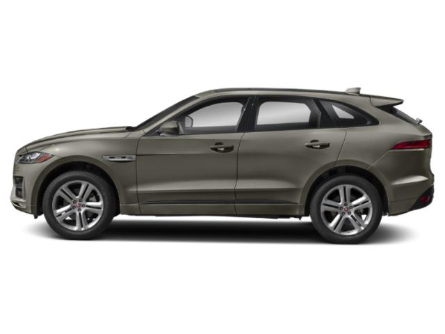 Silicon Silver 2018 Jaguar F-PACE Pictures F-PACE 35t R-Sport AWD photos side view