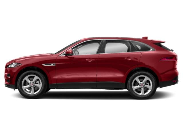 Firenze Red Metallic 2018 Jaguar F-PACE Pictures F-PACE 35t Prestige AWD photos side view