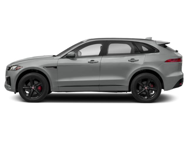 Indus Silver Metallic 2018 Jaguar F-PACE Pictures F-PACE S AWD photos side view