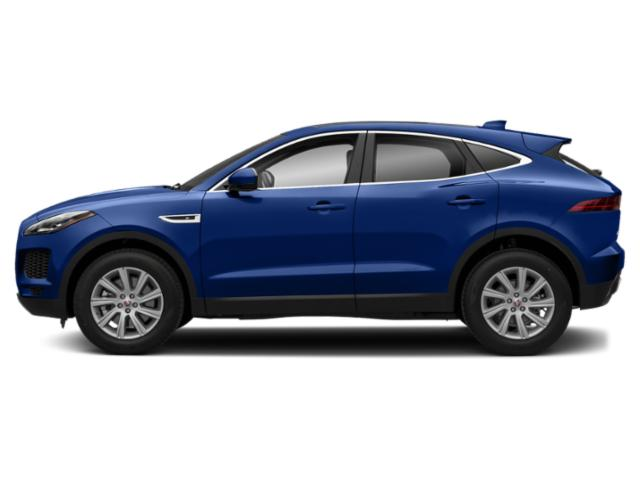 Caesium Blue Metallic 2018 Jaguar E-PACE Pictures E-PACE P300 AWD R-Dynamic SE photos side view