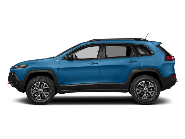 Hydro Blue Pearlcoat 2018 Jeep Cherokee Pictures Cherokee Utility 4D Trailhawk 4WD photos side view