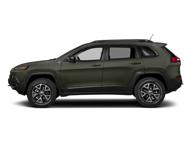 Olive Green Pearlcoat 2018 Jeep Cherokee Pictures Cherokee Utility 4D Trailhawk 4WD photos side view